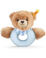 Steiff grip toy/rattle sleep well bear blue 239601
