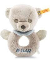 Steiff Hello Baby Greifring / Rassel Teddybär Levi 15 cm grau/blau 241512