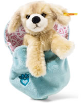 Steiff chien Kelly 15 cm blond en sac à coeur 077050