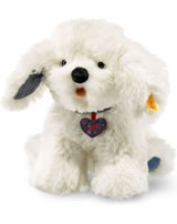 Steiff chien Wuff 23 cm blanc assis 084416