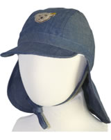 Steiff Hut m. Nackenschutz VINTAGE BLUE denim original 6512640-0004