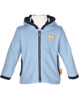 Steiff Cardigan with hood BLUE WINTER chambray blue 1922120-6035