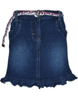 Steiff Jeans skirt with belt HELLO SPRING dark blue denim 6913005-0012