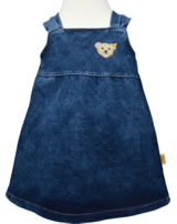 Steiff Jeans-Trägerkleid LITTLE HIBISCUS dark blue denim 6912008-0012