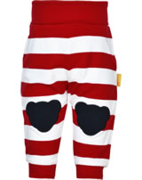 Steiff jogger Joggingpants AHOI BABY stripes tango red 2012213-4008