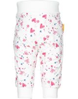 Steiff jogger Pants BEAR IN MY HEART Stripes cloud dancer 2011142-1001