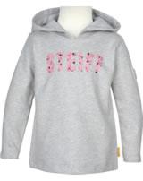 Steiff Hooded sweatshirt HEARTBEAT soft grey melange 2011317-9007