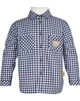 Steiff Shirt checked short sleeve MODERN MARITIME black iris 001912115-3032