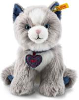 Steiff chat Paws 21 cm gris claire/blanc assis 084430