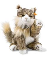 Steiff Katze Pharao 42 cm braun/creme gespitzt liegend 099212