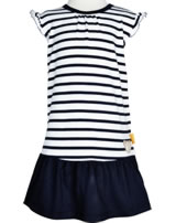 Steiff Dress cap sleeves AHOI BABY stripes steiff navy 2012216-3032