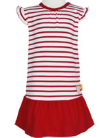 Steiff Dress cap sleeves AHOI BABY stripes tango red 2012216-4008