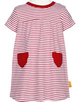 Steiff Dress short sleeve AHOI BABY stripes tango red 2012215-4008