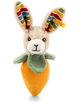 Steiff grip toy with rustling foil bunny Carrie 15 cm colorful 240829