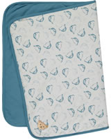 Steiff Blanket jersey BABY UNISEX ORGANIC adriatic blue 2012308-6045