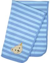 Steiff Krabbeldecke Jersey SUMMER COLORS baby blue 6916730-3023
