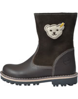 Steff Leather winter boots with wool lining NOORA brown