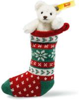 Steiff Mini Ours en chaussette 8 cm mohair blanc 026768