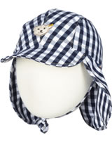 Steiff Hat with neck protection SEASIDE stripe/check 6833600-0001