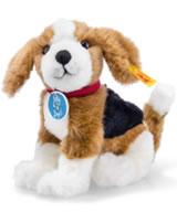 Steiff Nelly the Beagle 18 cm braun/weiss/schwarz sitzend 355288