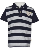 Steiff Polo-Shirt short sleeve GO BEAR GO black iris 2011409-3032