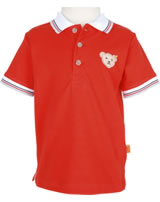 Steiff Polo-Shirt Kurzarm SEASIDE cherry tomato 6833621-2113