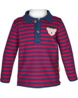 Steiff Polo shirt long sleeve RED AND BLUE WINTER tango red 1921104-4008