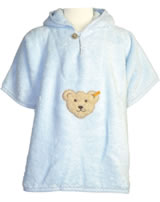 Steiff Badeponcho Frottee BASIC baby blue 0002927-3023