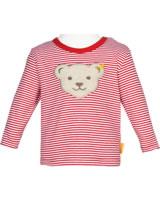 Steiff Ringel-Shirt Langarm BEAR CREW tango red 2012136-4008