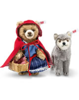 Steiff Little red riding hood and the wolf 16 cm brown/grey 021350