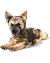 Steiff Schäferhund Mike 37 cm braun/blond liegend 083488