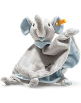 Steiff Schmusetuch Elefant Trampili 28 cm grau/blau 241697
