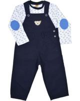 Steiff Set Latzhose + Shirt PAPER BOAT marine Mini Boy 6912602-3032