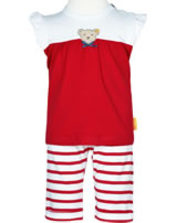 Steiff Set Shirt + pants AHOI BABY tango red 2012227-4008
