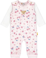 Steiff Romper and shirt BEAR AND CHERRY barely pink 2013242-2560