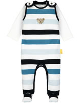 Steiff Romper and shirt BEAR BLUES bright white 2011214-1000