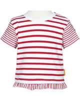 Steiff Shirt short sleeve AHOI BABY stripes tango red 2012239-4008