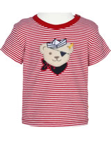Steiff Shirt short sleeve BEAR CREW stripe tango red 2012140-4008