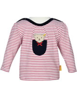 Steiff Shirt long sleeve AHOI BABY stripes tango red 2012240-4008