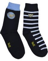 Steiff 2 pair of baby socks Teddy TEDDY black iris 2011915-3032
