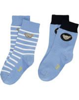 Steiff 2 pair of baby socks Teddy TEDDY forever blue 2011915-6027
