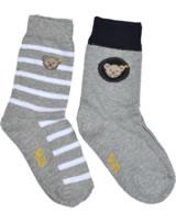Steiff 2 pair of baby socks Teddy TEDDY quarry 2011915-9007