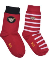 Steiff Socken 2er Pack TEDDY tango red 2011915-4008