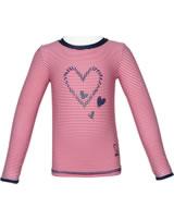 Steiff Sonnenschutz-Shirt UV-Shirt NAVY HEARTS GIRL tango red 2014610-4008