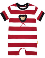 Steiff Romper short sleeve AHOI BABY tango red 2012233-4008