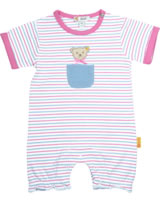 Steiff Romper short sleeve BEAR AND CHERRY bright white 2013229-1000