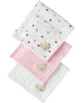 Steiff Diapers set of 3 WELLNESS GOTS sea pink 1922410-3014
