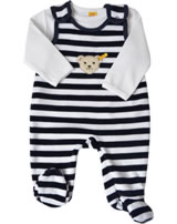 Steiff Romper suit with shirt BASIC marine 0002855-3032
