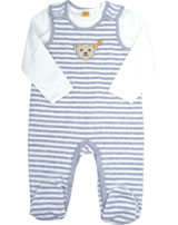 Steiff Romper Sleeveless + T-Shirt WINTER GREY stripe 6842805-0001