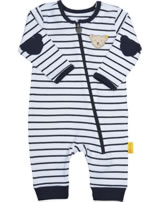 Steiff Romper BEAR BLUES stripes black iris 2011220-3032